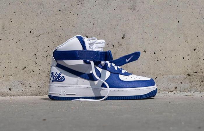 Nike Air Force 1 High EMB Dodgers White Blue DC8168-100 06