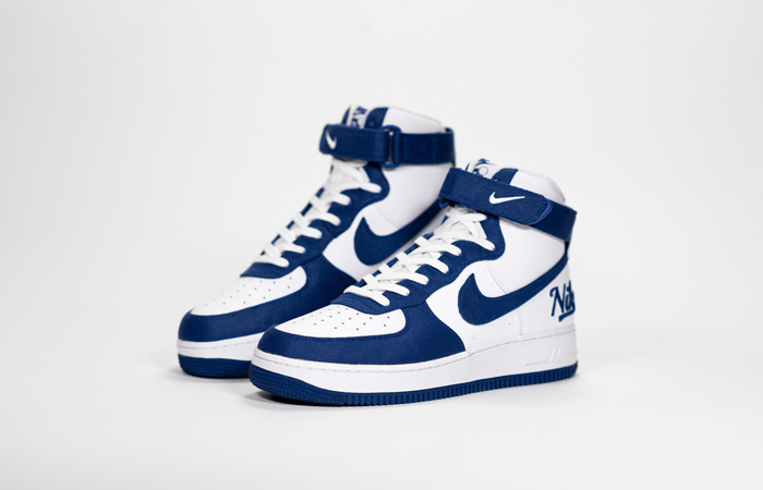 Nike Air Force 1 High EMB Dodgers White Blue DC8168-100 07