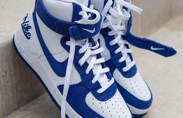Nike Air Force 1 High EMB Dodgers White Blue DC8168-100 08
