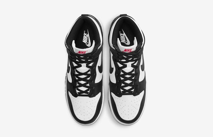 Nike Dunk High Black White Womens DD1869-103 05