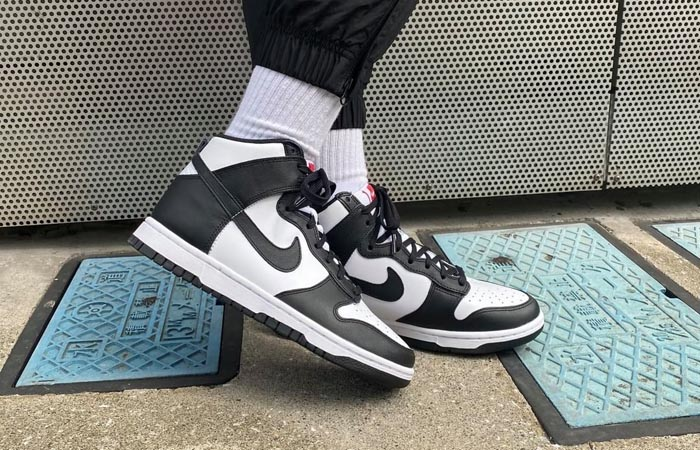 Nike Dunk High Black White Womens DD1869-103 on foot 01