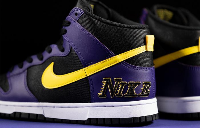 Nike Dunk High EMB Lakers Purple Yellow DH0642-001 03