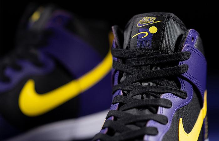 Nike Dunk High EMB Lakers Purple Yellow DH0642-001 04