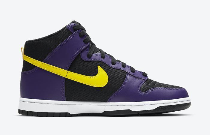 Nike Dunk High EMB Lakers Purple Yellow DH0642-001 06