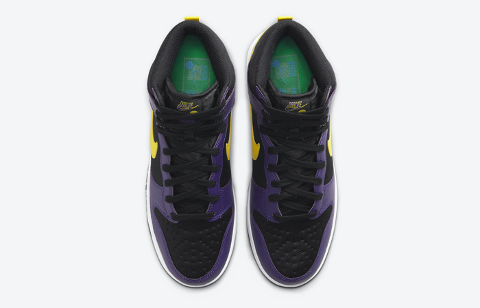 Nike Dunk High EMB Lakers Purple Yellow DH0642-001 07
