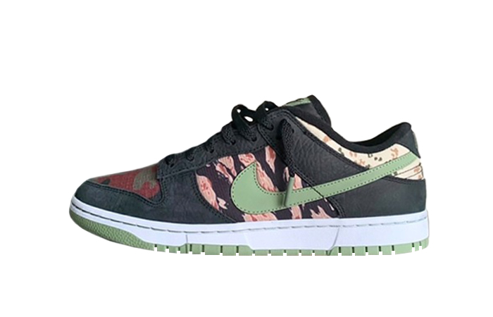 Nike Dunk Low SE Oil Green DH0957-001 01