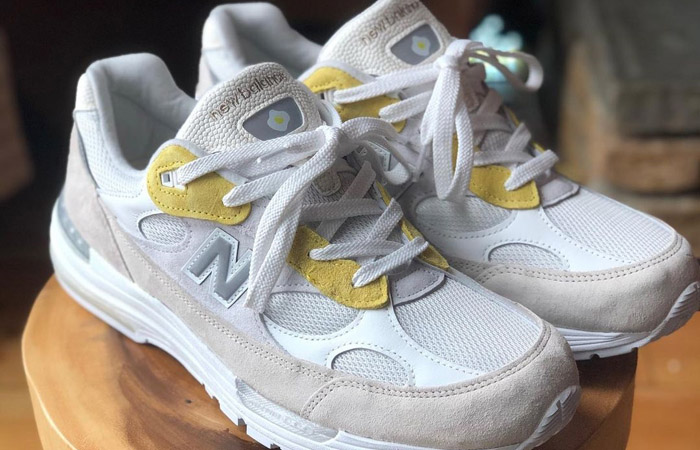 Paperboy Paris New Balance 992 White Beige 02