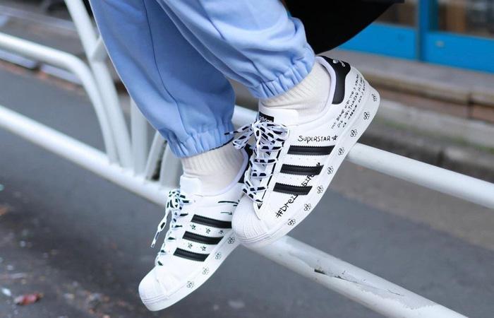 adidas Superstar Sharpie White Black GV9804 on foot 01