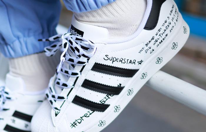 adidas Superstar Sharpie White Black GV9804 on foot 02