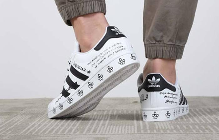 adidas Superstar Sharpie White Black GV9804 on foot 03
