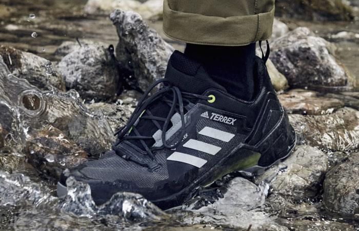 adidas Terrex Swift R3 Gore Tex Hiking Black FW2770 on foot 01