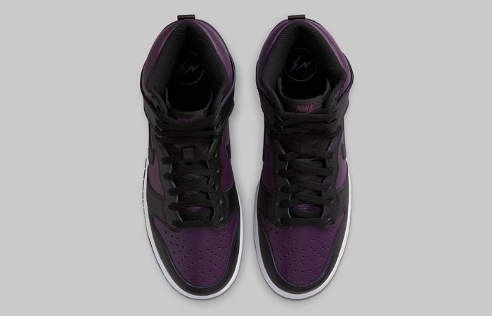 Fragment Nike Dunk High Beijing Wine Black DJ0382-600 04