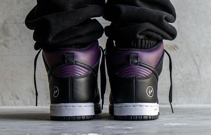 Fragment Nike Dunk High Beijing Wine Black DJ0382-600 on foot 03