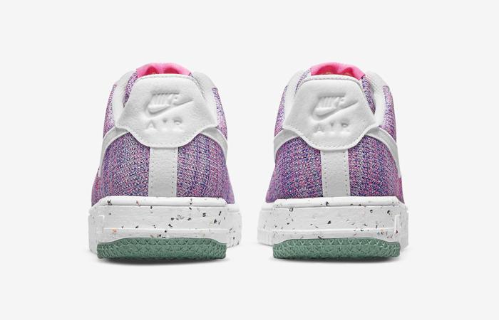 Nike Air Force 1 Crater Flyknit Fuchsia Glow Womens DC7273-500 05