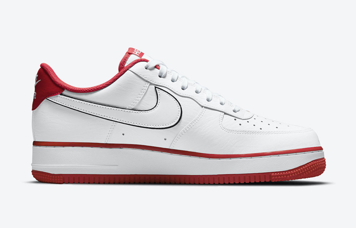 Nike Air Force 1 Hello White University Red CZ0327-100 03