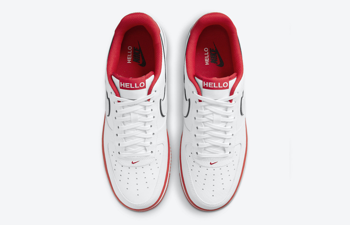 Nike Air Force 1 Hello White University Red CZ0327-100 04