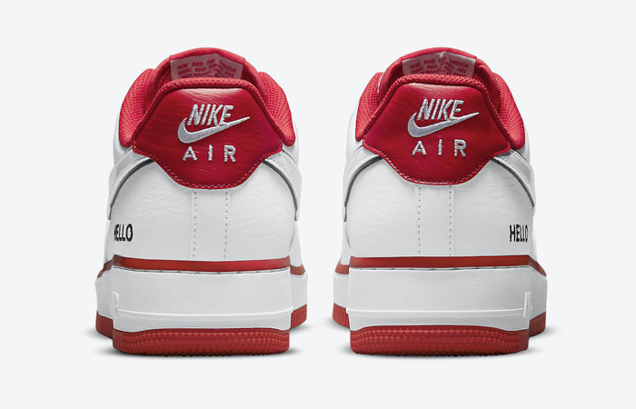 Nike Air Force 1 Hello White University Red CZ0327-100 05