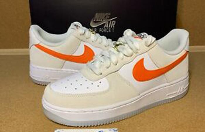 Nike Air Force 1 Low First Use White Orange DA8302-101 01