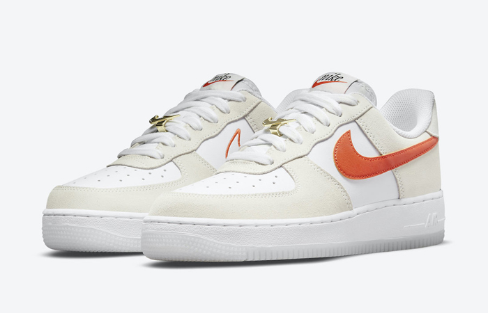 Nike Air Force 1 Low First Use White Orange DA8302-101 02