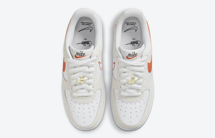 Nike Air Force 1 Low First Use White Orange DA8302-101 04