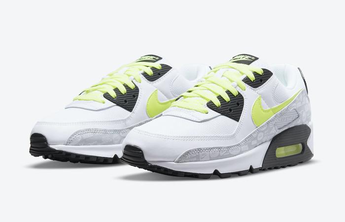 Nike Air Max 90 White Volt Black DB0625-100 02