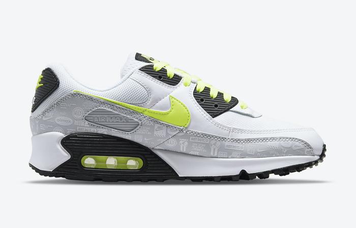 Nike Air Max 90 White Volt Black DB0625-100 03