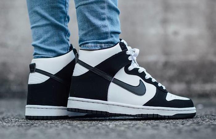 Nike Dunk High White Black DD1399-103 on foot 01