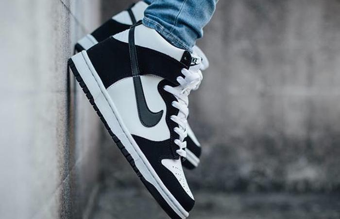 Nike Dunk High White Black DD1399-103 on foot 02