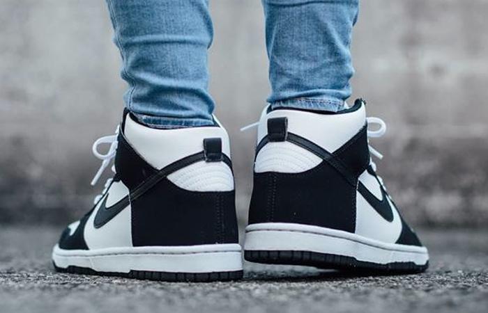Nike Dunk High White Black DD1399-103 on foot 03