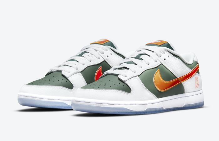 Nike Dunk Low NY vs NY Sage Green White DN2489-300 front corner