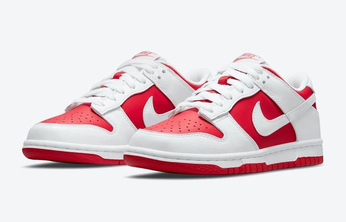 Nike Dunk Low White University Red DD1391-600 02