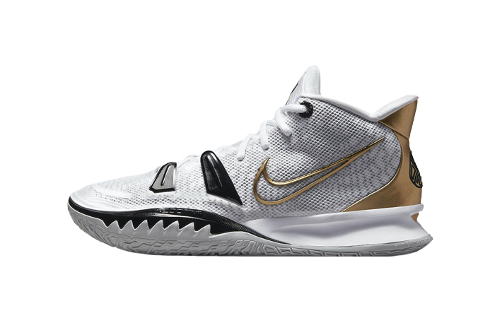 Nike Kyrie 7 White Black Gold CQ9326-101 01