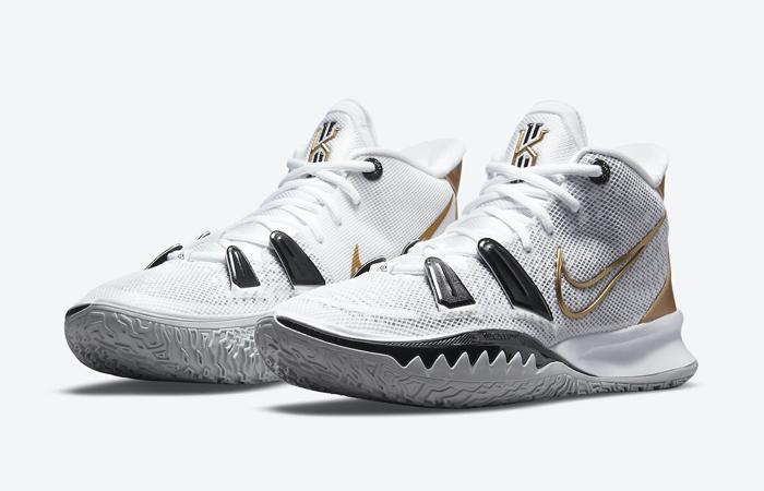 Nike Kyrie 7 White Black Gold CQ9326-101 02