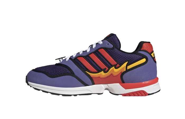 Simpsons adidas ZX 1000 Flaming Moes Purple Black H05790 01