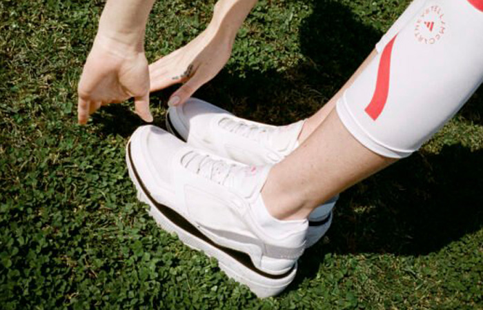 adidas By Stella McCartney Earthlight Mesh Cloud White H02809 on foot 01