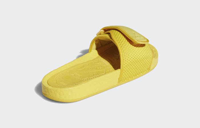 Adidas Chancletas Hu Slides Bold Gold H04407 back corner