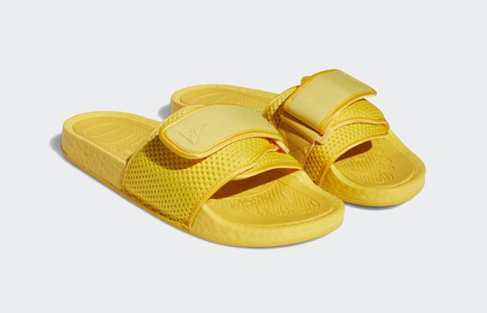 Adidas Chancletas Hu Slides Bold Gold H04407 front corner