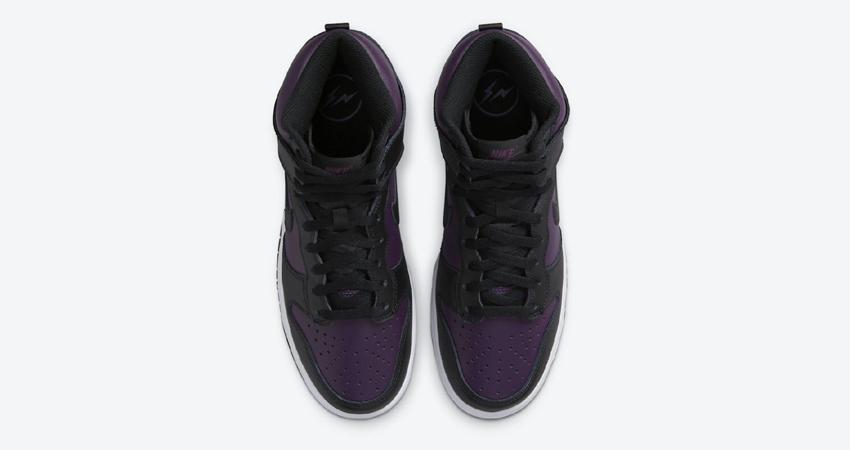 Detailed Look at Fragment Nike Dunk High Beijing Wine Black 03