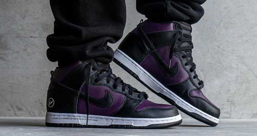 Detailed Look at Fragment Nike Dunk High Beijing Wine Black featured image