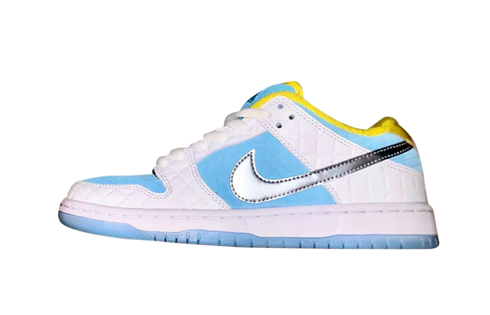 FTC Nike SB Dunk Low White Lagoon Pulse DH7687-400 featured Image