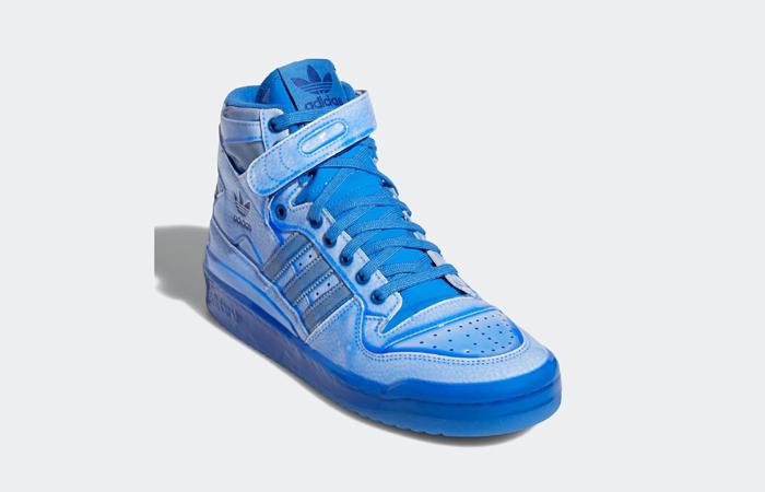 Jeremy Scott adidas Forum High Blue G54995 front corner
