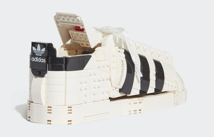 Lego adidas Superstar White Black FZ8497 back corner
