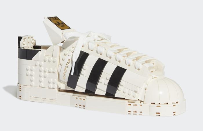 Lego adidas Superstar White Black FZ8497 front corner
