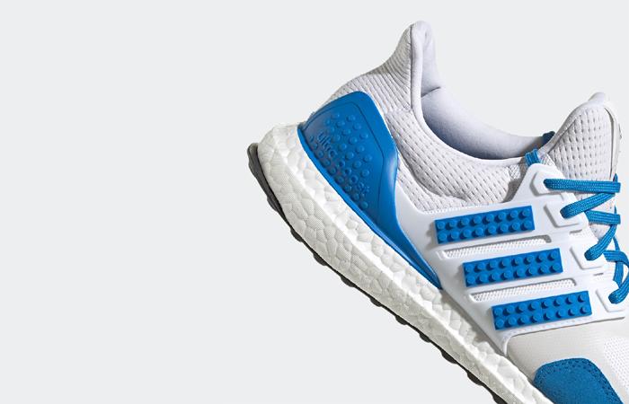 Lego adidas Ultra Boost DNA White Blue H67952 corner