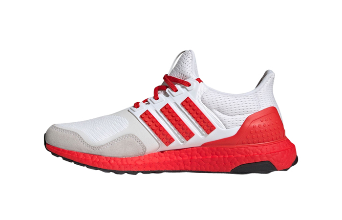 Lego adidas Ultra Boost DNA White Red H67955 Featured Image
