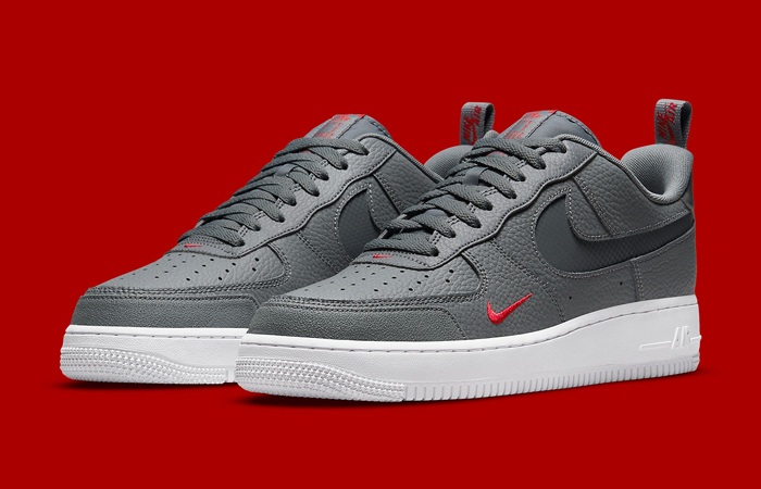 Nike Air Force 1 Grey White DN4433-001 front corner