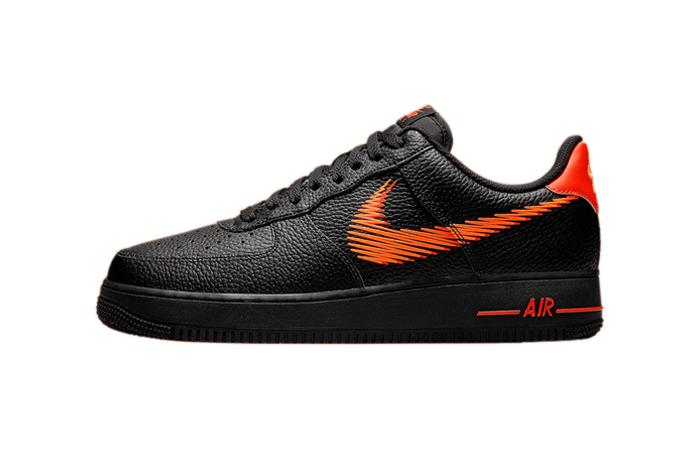Nike Air Force 1 Zig Zag Black Orange DN4928-001 featured image
