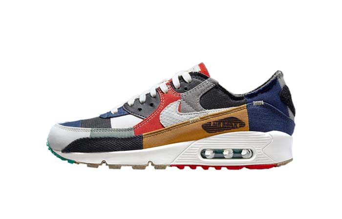 Nike Air Max 90 Scrap College Navy Womens DJ4878-400 Featured Image