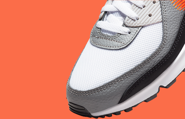 Nike Air Max 90 Zig Zag Grey White DN4927-100 up zoomed