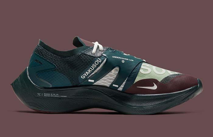 Nike Gyakusou ZoomX VaporFly Green Burgundy CT4894-300 right